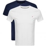 Product Image for Farah Vintage Pinehurst Double Pack T Shirts Navy